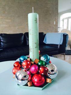 Juledekoration med kalenderlys 2014