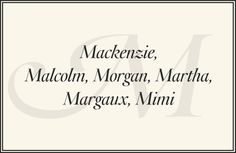 "The Preppiest Baby Names from A to Z.  ""Martha"""