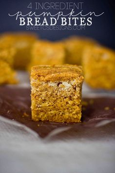 4 ingredient pumpkin bread bites are a delicious, easy fall treat!