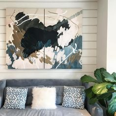 """361 Likes, 24 Comments - Laura McGuigan — Abstract Art (@atypicalnotion) on Instagram: """"Ugh you guyyyys. This new painting looks SO perfect at @varnishlane. So grateful for the chance to…"""""""