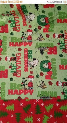 On Sale PEANUTS Snoopy Christmas bedding by Gingerbread123 on Etsy
