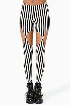 Split Stripe Garter Legging