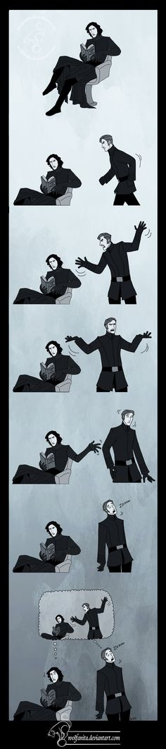 "1) ""Vader Up Your Life"" 2) Ren's face in the last panel. 