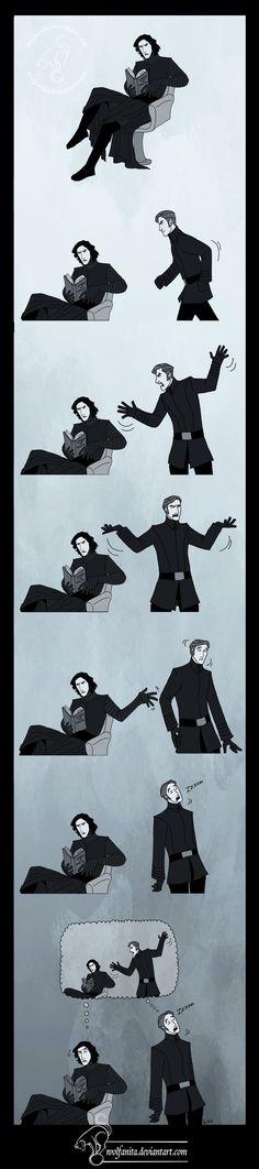 "1) ""Vader Up Your Life"" 2) Ren's face in the last panel. || Star Wars: TSDD: Snoke's Boys III by wolfanita on DeviantArt"