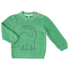 Buy John Lewis Baby Dinosaur Jumper, Green Online at johnlewis.com