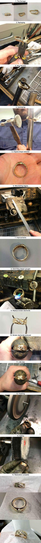 Wedding ring falls in garbage disposal, gets restored...