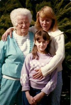 Grandma Sadler with me and Debbie