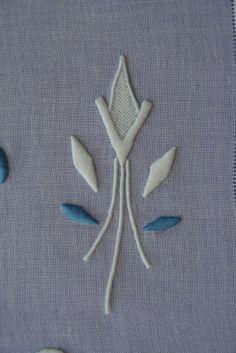 beautiful padded satin stitch