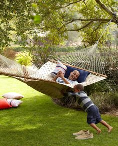 A Hammock and a good book are all you need most days.