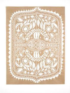 beautiful silk screened paper by laikonik