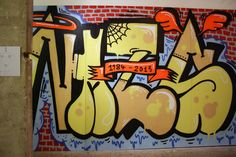 "Graffiti aus der ""Graffiti, Raps und Comics"" Ausstellung (The Box, 29.11.2013-14.01.2014)"