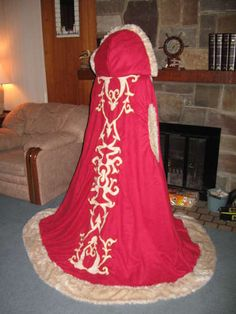 Fur and Suede winter cloak. I don't know why I would ever need this, but just in case :)