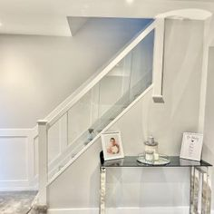 Our Wonderful Gallery of Staircases Refurbishments | Stairfurb's Gallery Oak Newel Post, Newel Post Caps, Wall Mounted Handrail, Oak Handrail, Stainless Steel Handrail, Loft Stairs, Stair Lighting, Glass Balustrade, Newel Posts