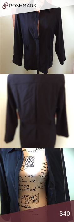Black jacket Worn once. Zip front. Two side zip pockets. Esprit Jackets & Coats