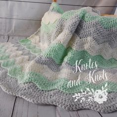 Light mint, gray and ivory baby blanket. This is a very special handmade crochet baby blanket.  This baby afghan will make a wonderful baby shower gift.  This blanket would make a lovely addition to your baby nursery decor. Perfect also, for travel, strollers, prams, cribs, tummy time and photo props
