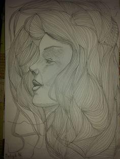 A lány mosolya. Monolith ceruza A4 Papír Félkész. Artist: Balogh Krisztina