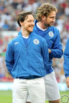 two of my favorite scots in one shot - Gerard Butler & James McAvoy