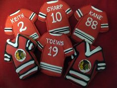 Check out these #Blackhawks jersey cookies from Central Continental Bakery! #WesternConferenceFinals