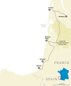 ATLANTIC SURF COAST FROM BORDEAUX TO BIARRITZ. ( Bordeaux-Lacanau-Mimizan Plage-Hossegor-Biarritz )