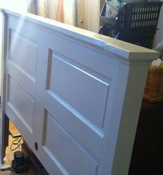 Opportunity Knocks: Transforming an Old Door into a Headboard - Old Town Home