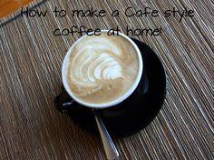 how to make a cafe style coffee at home | produkte, kaffee und zuhause, Innenarchitektur ideen