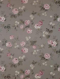 """""""Aromas"""" Vlies-Tapete 623-3 Floral Blumen rosa-grau Landhaus-Stil (6.25 Euro/m²)"""