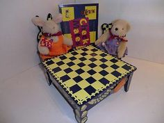 Muffy Vanderbear Checkmates Chess Set Table Chairs Muffy Hoppy 1995 | eBay