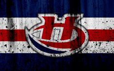 Download wallpapers Lethbridge Hurricanes, 4k, grunge, WHL, hockey, art, Canada, logo, stone texture, Western Hockey League