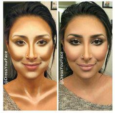 Highlight contour makeup! U must blend well! Use the sigma kabuki brush in circular motions