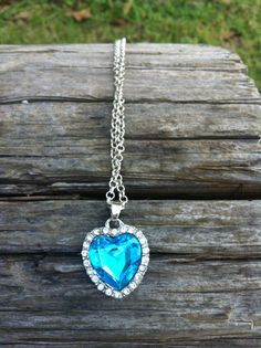 VETERANS DAY SALE!! NOW THRU MONDAY I AM OFFERING 40% OFF JUST USE THE COUPON CODE VETDAY40 AT CHECKOUT. NO MINIMUM PURCHASE!!Blue and Silver Heart Necklace by Krazy4Kamo on Etsy, $3.00