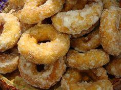 malaysian Donut - Kueh Keria   made from flour, sweet potato, nutmeg and sugar