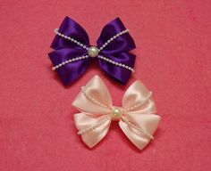 Hello everyone,today i want to share with you how to make this preety ribbon hair bows.This idea just came up in my mind and i decide to make this tutorial,i...