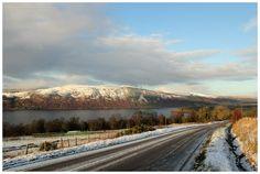 Winter's Heartland - Loch Ness by globalsinner The Loch, Heartland, Mount Rainier, Around The Worlds, Country Roads, Deviantart, Mountains, Artist, Artwork
