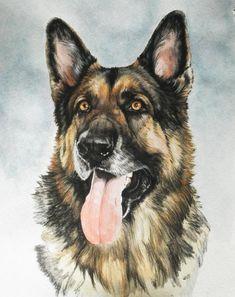 german shepherd art | German Shepherd Painting by Barbara Keith - German Shepherd Fine Art ...
