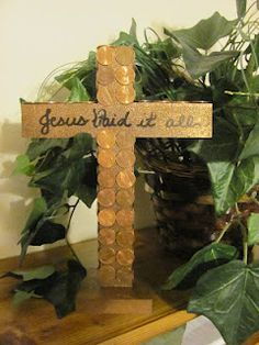 Jesus Paid it All - cross craft