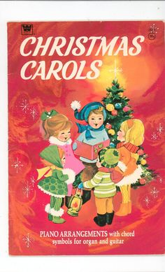 I loved this book as a kid. One of my first xmas piano books. Vintage Christmas Carols Music Book Piano Chord Symbols For Organ & Guitar Whitman 2979 Available In Store Christmas Carol Book, Noel Christmas, Christmas Books, Retro Christmas, Vintage Holiday, Christmas Music, Christmas Lyrics, Vintage Party, Christmas Vacation