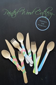 Craft:  Painted Wood Cutlery
