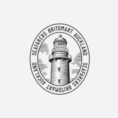 Logo with etched illustrative detail designed by Inhouse for Auckland's The Seafarers Building//