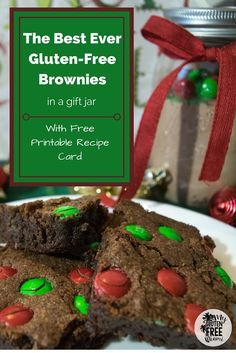 Rich and Chocolaty, these brownies will even have the gluten eaters coming back for more. Make several batches of the mix to keep on hand for gifts or a quick treat. #glutenfree #dairyfree