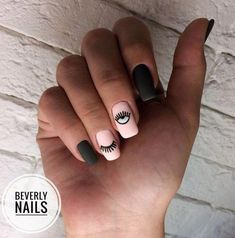 All of these nail designs are actually as easy as they are lovely. If you're regularly searching for creative ideas and new designs, nail art designs are a good way to show off your character and to be original. Em Nails, Blue Nails, Hair And Nails, Stylish Nails, Trendy Nails, Tumblr Nail Art, Manicure E Pedicure, Minimalist Nails, Cute Acrylic Nails