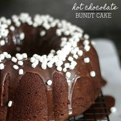 Cookies and Cups Hot Chocolate Bundt Cake