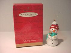 1999 Hallmark Christmas Ornament Collecting Friends Snowman * Check out…