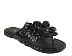 Max Collection Women's Flores Jewel Flower Thong Sandals ** Click image for more details.