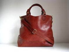 a425b7d0ee72 Tan Leather Classic Tote Purse by TheLeatherStore on Etsy