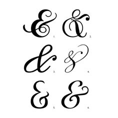 Egbert and Sparklehorse: Script Ampersands from DaFont.com