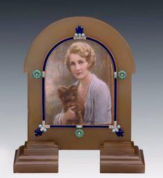 Cartier Frame with miniature of Eleanor Barzin