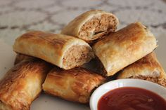 The best meatless sausage roll ever. Fool all your friends with deliciousness!