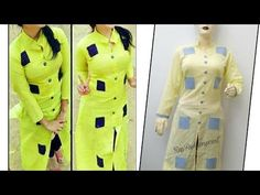 Beautiful Kurti Design Cutting and Stitching Salwar Designs, Kurti Neck Designs, Sleeve Designs, Blouse Designs, Gawn Dress, Collar Kurti Design, T Shirt Tutorial, Fashion Hub, Fashion Design