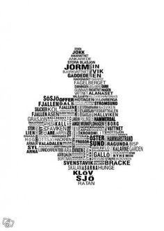 Jämtlandskartan (affisch) | Jämtland
