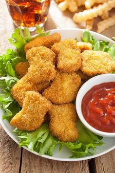 Homemade Healthy Baked Chicken Nuggets Recipe With Crispy Panko Crust – Melanie Cooks Healthy Chicken Nuggets, Homemade Chicken Nuggets, Healthy Baked Chicken, Crispy Chicken, Kids Chicken Nuggets, Fresh Chicken, Baby Food Recipes, Chicken Recipes, Cooking Recipes